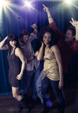 Friends night club Stock Images