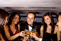 Friends on a night out Royalty Free Stock Photo