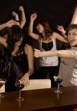 Friends in the Nightclub Stock Photo