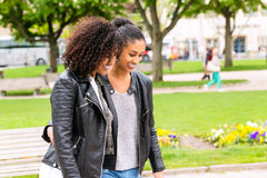 Friends of North African ethnicity in park. Best friends of North African ethnicity in park Stock Image