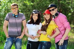 Friends outdoor Royalty Free Stock Images