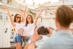 Friends. Outdoor. Royalty Free Stock Images