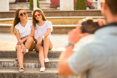 Friends. Outdoor. Royalty Free Stock Photography
