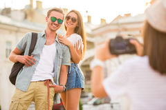 Friends. Outdoor. Royalty Free Stock Photos