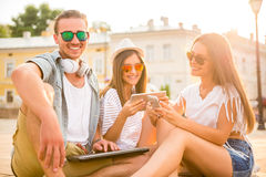 Friends. Outdoor. Royalty Free Stock Photo