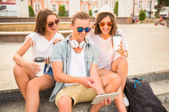 Friends. Outdoor. Royalty Free Stock Image