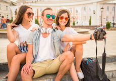 Friends. Outdoor. Stock Photography