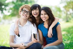 Friends outdoors Royalty Free Stock Photo