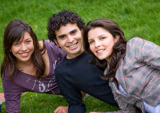 Friends outdoors Royalty Free Stock Images