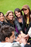 Friends outdoors Royalty Free Stock Image