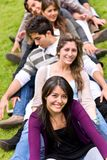 Friends outdoors Stock Image
