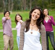 Friends outdoors Stock Photography