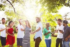 Friends Outdoors Party Celebration Hanging out Concept Royalty Free Stock Image