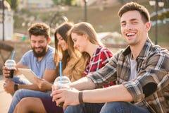Friends outdoors Stock Photos