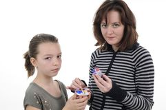 Friends painting easter eggs Royalty Free Stock Images
