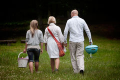 Friends in Park with Barbecue Stock Photography