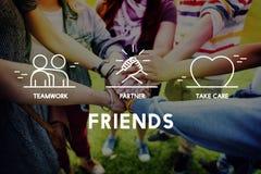 Friends Partner Take Care Teamwork Concept Stock Photo