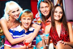 Friends at party Stock Photography