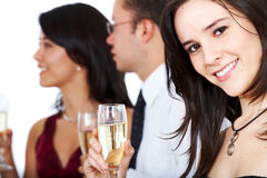 Friends at a party Stock Image