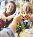 Friends Party Cheers Enjoying Food Concept Stock Image
