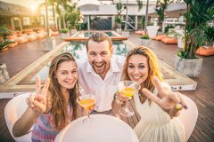 Friends at party Royalty Free Stock Photography