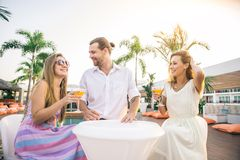 Friends at party Royalty Free Stock Image