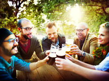 Friends Party Outdoors Celebration Happiness Concept Stock Photo