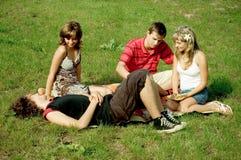 Friends at picnic Royalty Free Stock Photo