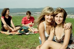 Friends at picnic Royalty Free Stock Image