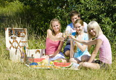 Friends at a picnic Stock Photo