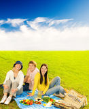 Friends at picnic. Picture of a happy Friends at picnic Stock Image