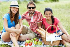 Friends on picnic Stock Image