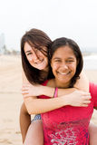 Friends piggyback Royalty Free Stock Photos