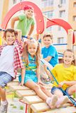 Friends on playground Royalty Free Stock Photography
