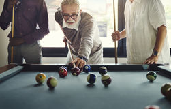 Friends Playing Billiard Relaxation Happiness Concept royalty free stock images