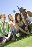 Friends Playing Golf Together Stock Photo