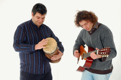 Friends playing a solo ! Royalty Free Stock Photo