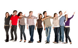 Friends pointing out Stock Photo
