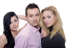 Friends posing Royalty Free Stock Photography
