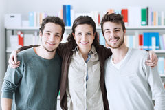 Friends posing together Royalty Free Stock Photos