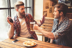 Friends at the pub Royalty Free Stock Images