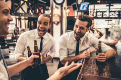 Friends in pub Stock Images