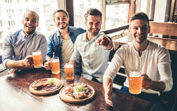 Friends in pub Stock Photos