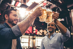 Friends in pub Royalty Free Stock Photo