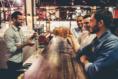 Friends in pub Royalty Free Stock Photography