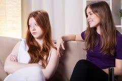 Friends quarrel Royalty Free Stock Images