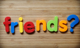 Friends question concept Royalty Free Stock Photos