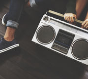 Friends Radio Boombox Sound Vintage Concept Stock Photography