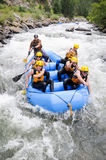 Friends Rafting Royalty Free Stock Photography