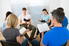 Friends Reading Bible Royalty Free Stock Images